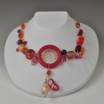 lucite, glass, pearl, crystal, amber, goldfill