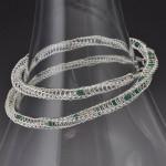emerald, argentium silver